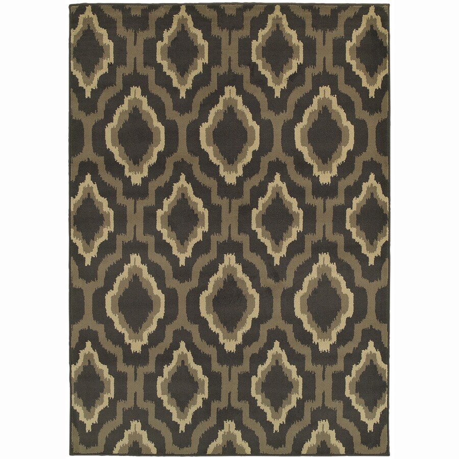 Archer Lane Smith Charcoal Rectangular Indoor Machine-Made Nature Area Rug (Common: 10 x 14; Actual: 10.08-ft W x 12.8-ft L)
