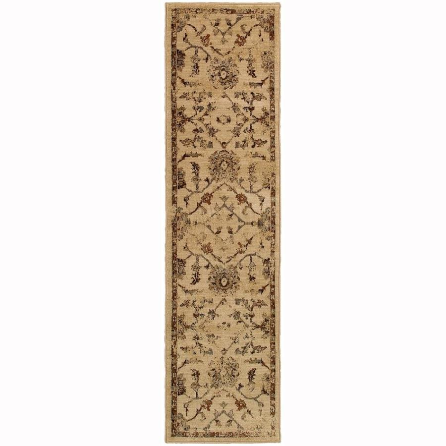 Archer Lane Ann Ivory Indoor Oriental Runner (Common: 2 x 8; Actual: 1.8-ft W x 7.5-ft L)