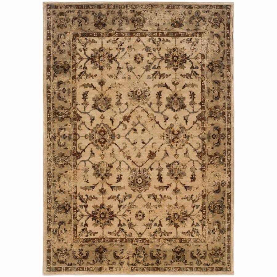 Archer Lane Ann Ivory Indoor Oriental Area Rug (Common: 4 x 6; Actual: 3.8-ft W x 5.4-ft L)