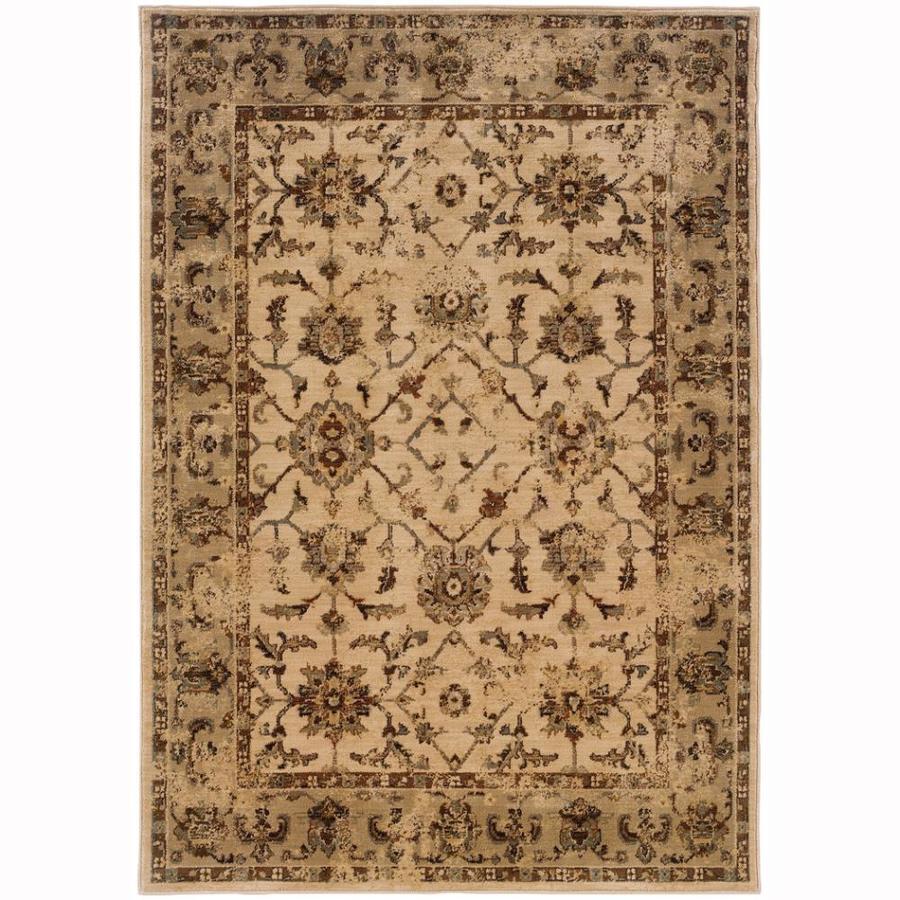 Archer Lane Ann Ivory Rectangular Indoor Machine-Made Oriental Area Rug (Common: 5 x 8; Actual: 6.25-ft W x 7.5-ft L)