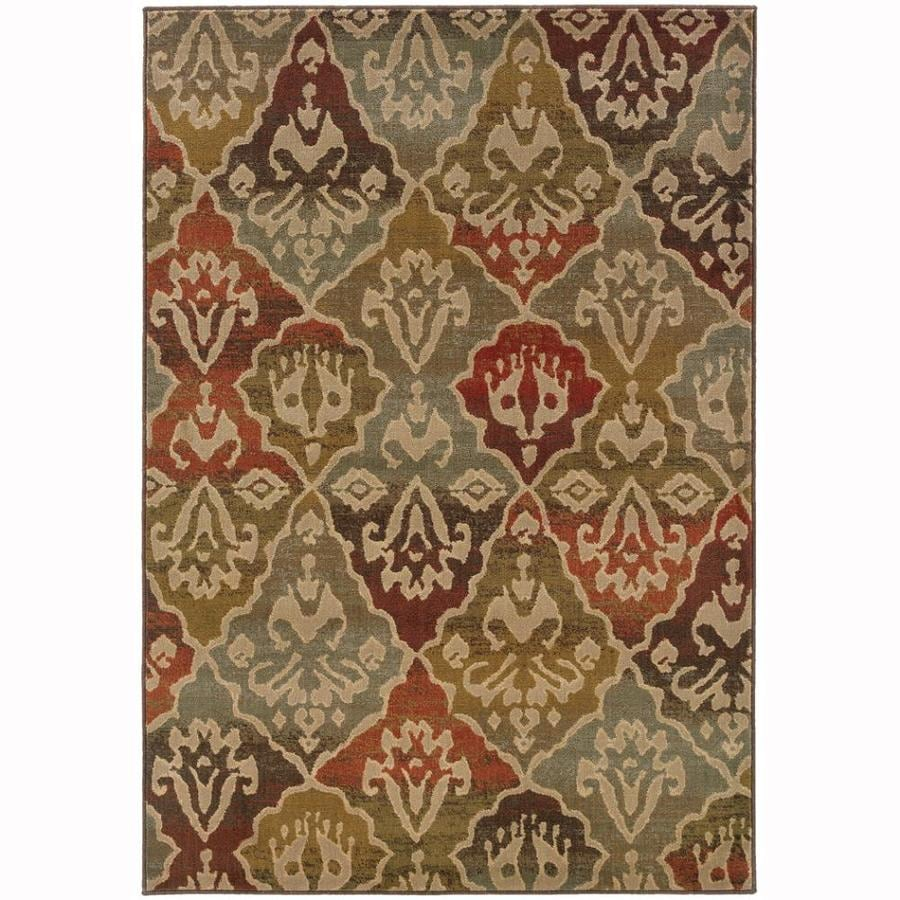 Archer Lane Glenwood Multicolor Rectangular Indoor Machine-Made Moroccan Area Rug (Common: 5 x 8; Actual: 6.25-ft W x 7.5-ft L)