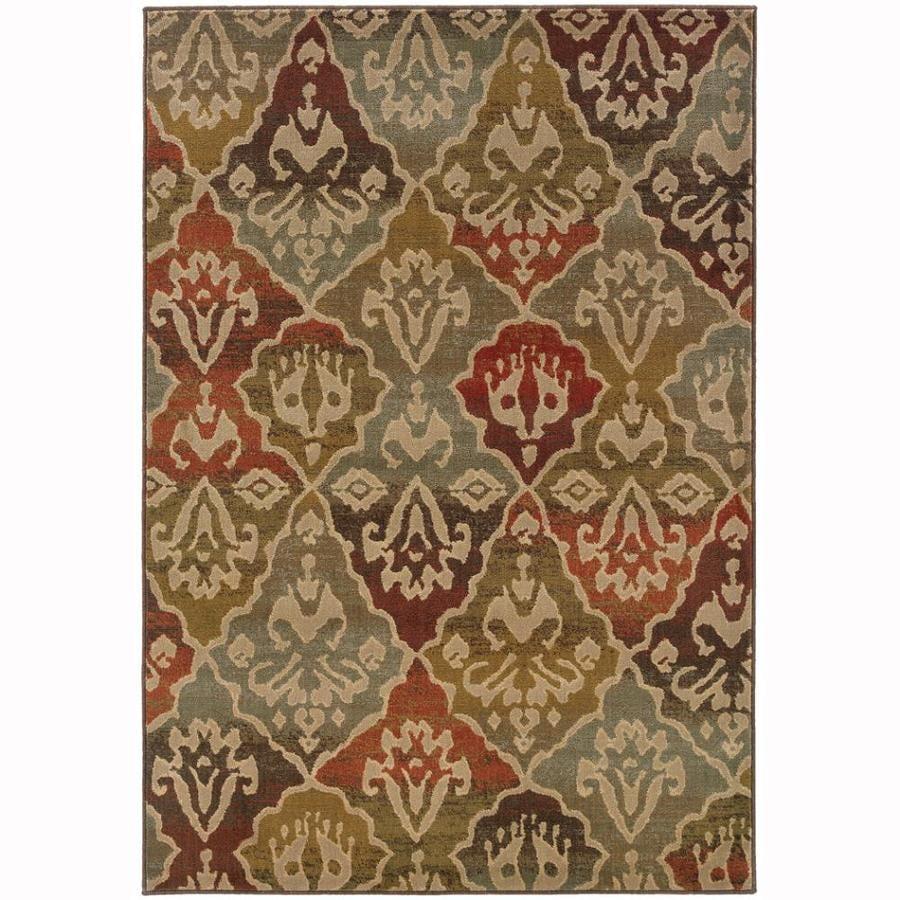 Archer Lane Glenwood Multicolor Rectangular Indoor Machine-Made Moroccan Area Rug (Common: 8 x 11; Actual: 7.8-ft W x 10.8-ft L)