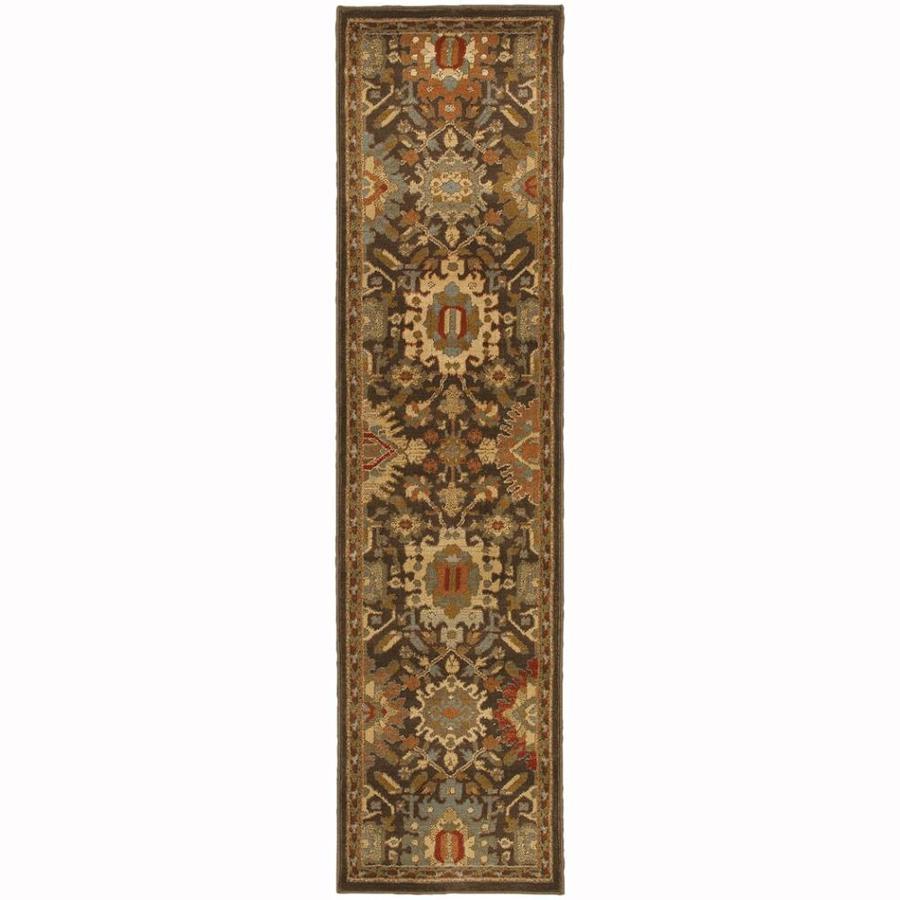Archer Lane Forest Mink Rectangular Indoor Machine-Made Oriental Runner (Common: 2 x 8; Actual: 1.8-ft W x 7.5-ft)