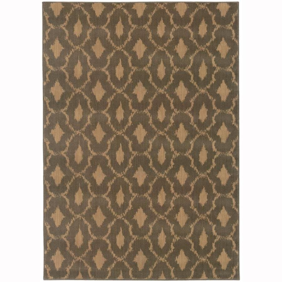 Archer Lane Shady Blue Rectangular Indoor Machine-Made Moroccan Area Rug (Common: 4 X 6; Actual: 3.8-ft W x 5.4-ft L)