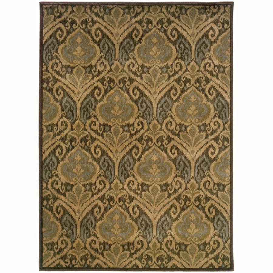Archer Lane Devon Green Indoor Nature Area Rug (Common: 4 x 5; Actual: 3.8-ft W x 5.4-ft L)