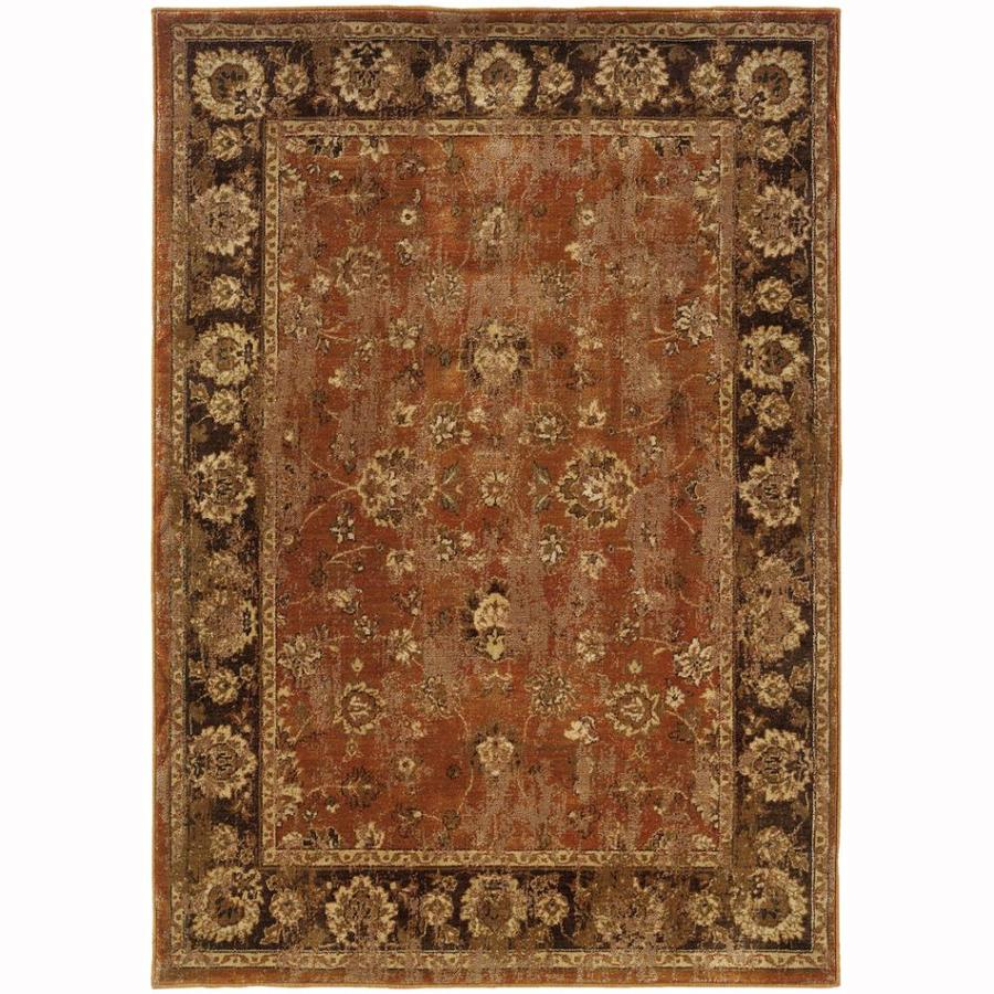 Archer Lane Garfield Orange Indoor Oriental Area Rug (Common: 8 x 11; Actual: 7.8-ft W x 10.8-ft L)