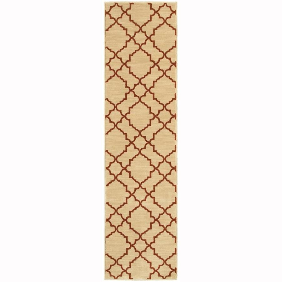 Archer Lane Heritage Beige Rectangular Indoor Machine-Made Oriental Runner (Common: 2 x 8; Actual: 1.8-ft W x 7.5-ft L)