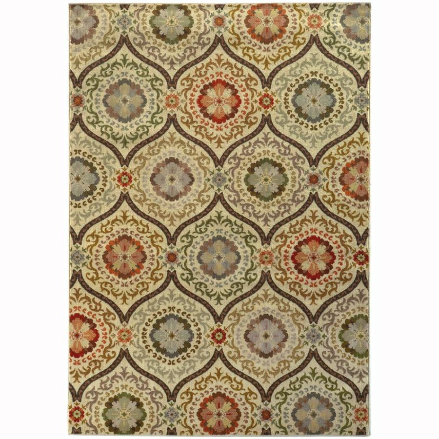 Archer Lane Montgomery Brown Rectangular Indoor Machine-Made Oriental Area Rug (Common: 4 X 5; Actual: 3.8-ft W x 5.4-ft L)