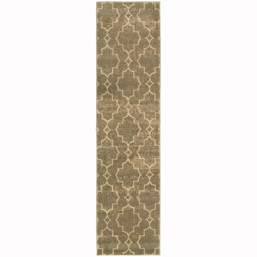 Archer Lane Route Brown Indoor Lodge Runner (Common: 2 x 8; Actual: 1.8-ft W x 7.5-ft L)