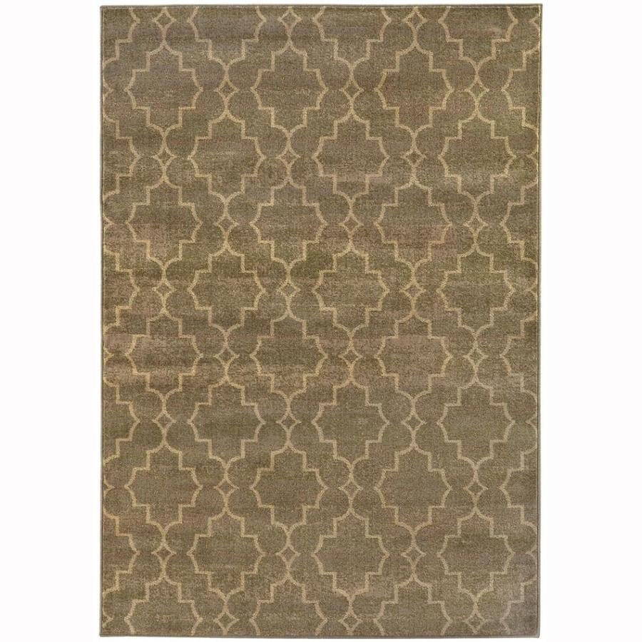 Archer Lane Route Brown Rectangular Indoor Machine-Made Lodge Area Rug (Common: 7 x 10; Actual: 6.6-ft W x 9.5-ft L)