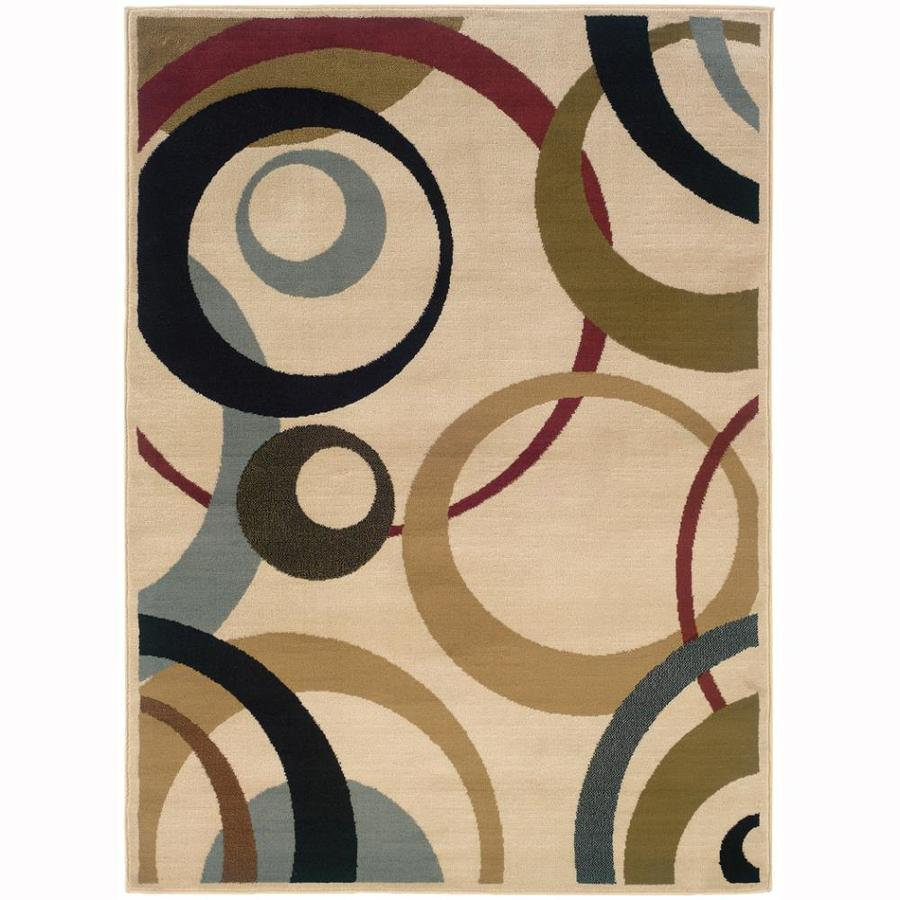 Archer Lane New York Ivory Rectangular Indoor Machine-Made Oriental Area Rug (Common: 5 x 7; Actual: 5-ft W x 7.25-ft L)
