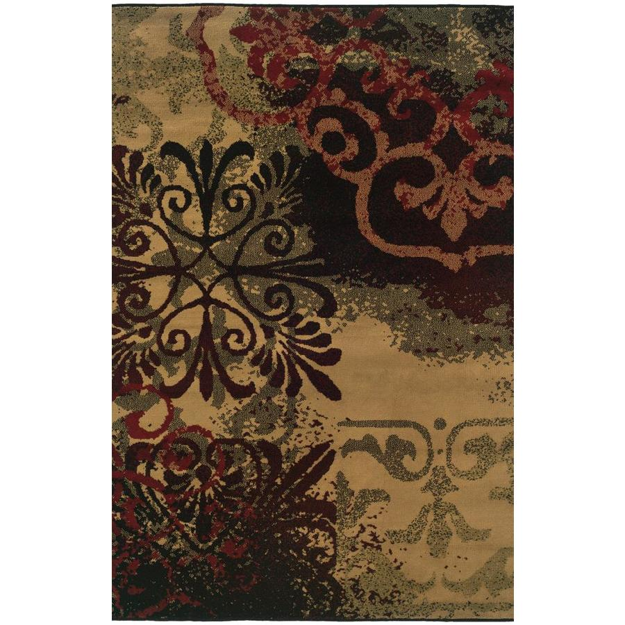 Archer Lane Riley Beige Indoor Oriental Area Rug (Common: 5 x 7; Actual: 5-ft W x 7.25-ft L)