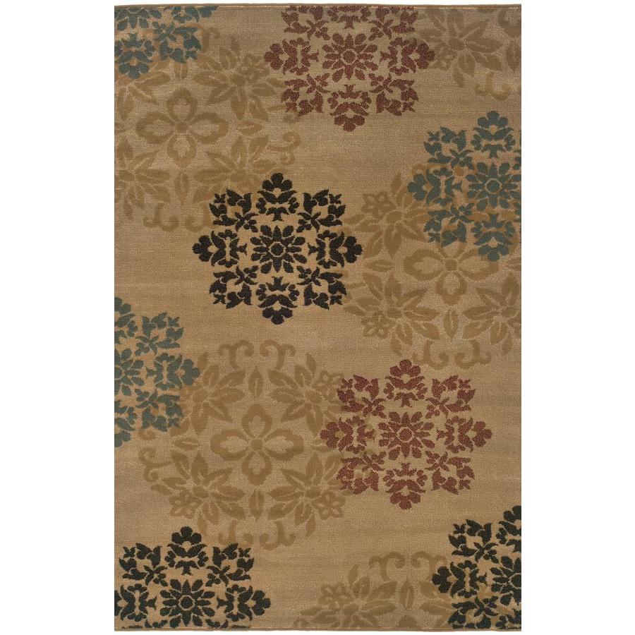 Archer Lane Clay Gold Rectangular Indoor Machine-Made Nature Area Rug (Common: 8 x 10; Actual: 7.8-ft W x 10-ft L)