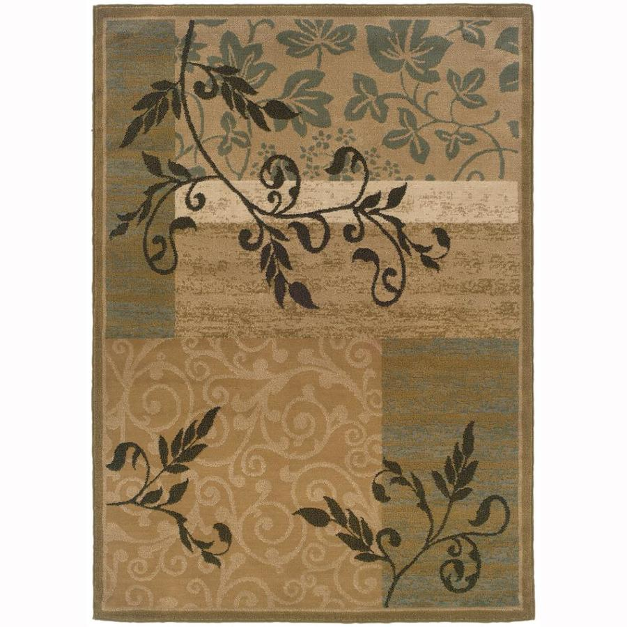 Archer Lane Cottage Gold Rectangular Indoor Machine-Made Nature Area Rug (Common: 8 x 10; Actual: 7.8-ft W x 10-ft L)