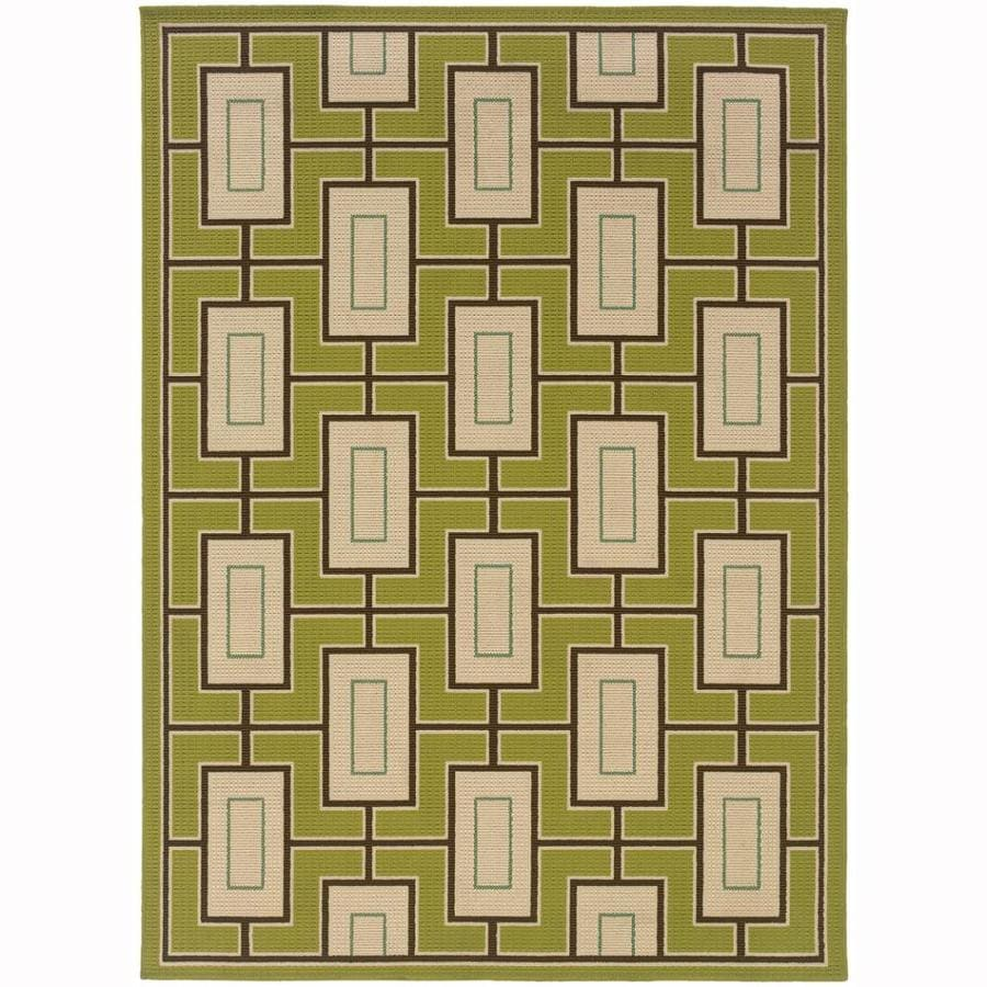 Archer Lane Ickenham Green Indoor/Outdoor Tropical Area Rug (Common: 4 x 6; Actual: 3.6-ft W x 5.5-ft L)