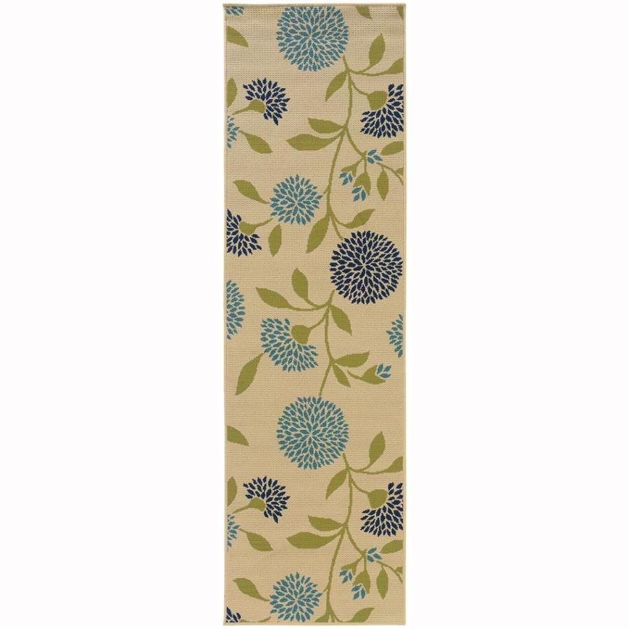 Archer Lane Labrador Ivory Indoor/Outdoor Tropical Runner (Common: 2 x 8; Actual: 2.25-ft W x 7.5-ft L)