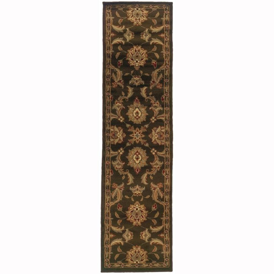 Archer Lane Abbermare Brown Rectangular Indoor Machine-Made Oriental Runner (Common: 2 x 7; Actual: 1.8-ft W x 7.25-ft L)