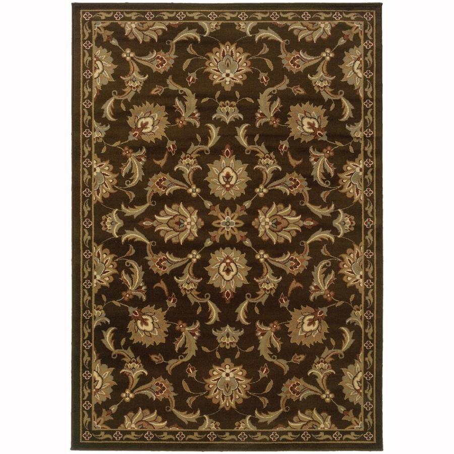 Archer Lane Abbermare Brown Rectangular Indoor Machine-Made Oriental Area Rug (Common: 5 x 7; Actual: 6.25-ft W x 7.25-ft L)