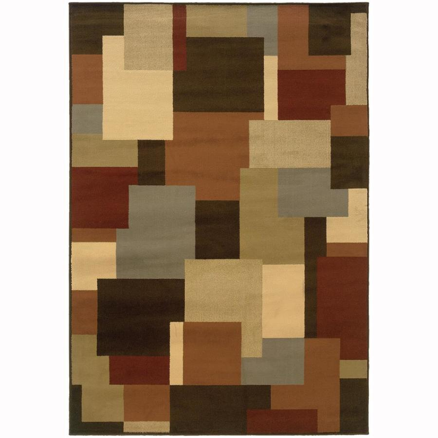 Archer Lane Bache Brown Rectangular Indoor Machine-Made Nature Area Rug (Common: 5 x 7; Actual: 6.25-ft W x 7.25-ft L)