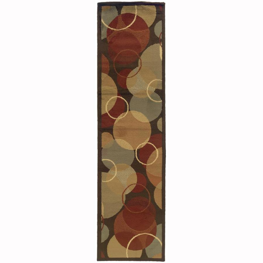 Archer Lane Bache Brown Rectangular Indoor Machine-Made Nature Runner (Common: 2 X 7; Actual: 1.8-ft W x 7.25-ft L)