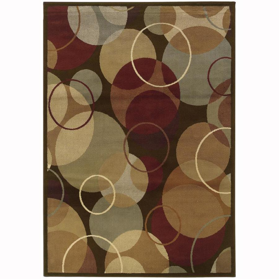 Archer Lane Bache Brown Rectangular Indoor Machine-Made Nature Area Rug (Common: 8 x 10; Actual: 7.8-ft W x 10-ft L)