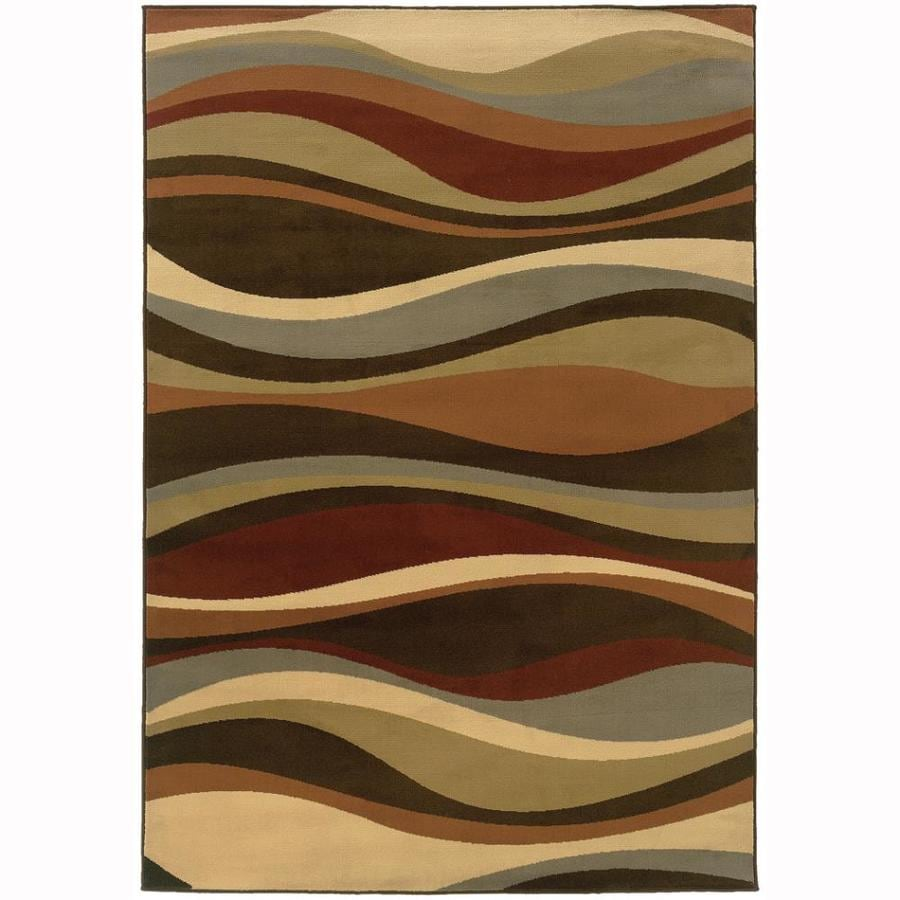 Archer Lane Dacian Brown Indoor Nature Area Rug (Common: 3 x 5; Actual: 3.25-ft W x 5-ft L)