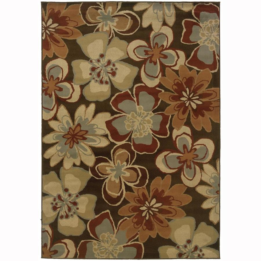 Archer Lane Fabian Brown Rectangular Indoor Machine-Made Nature Area Rug (Common: 5 x 7; Actual: 6.25-ft W x 7.25-ft L)