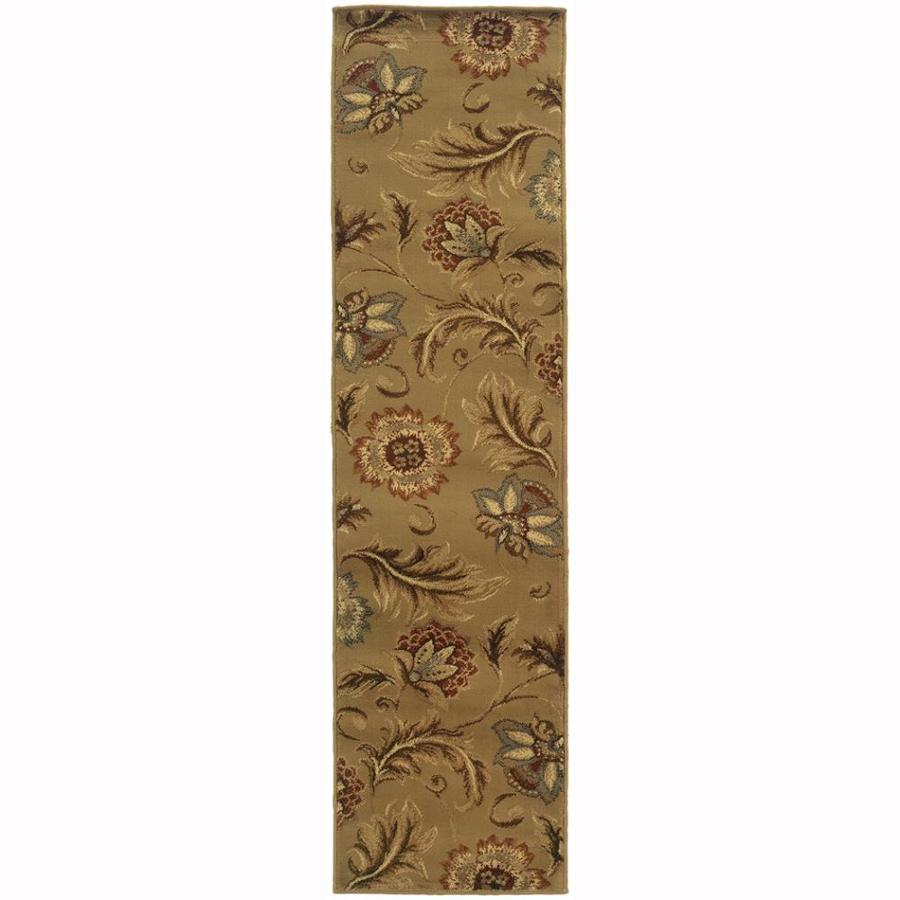 Archer Lane Gadwall Tan Rectangular Indoor Machine-Made Nature Runner (Common: 2 x 7; Actual: 1.8-ft W x 7.25-ft L)