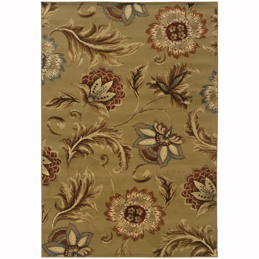 Archer Lane Gadwall Tan Indoor Nature Area Rug (Common: 3 x 5; Actual: 3.25-ft W x 5-ft L)