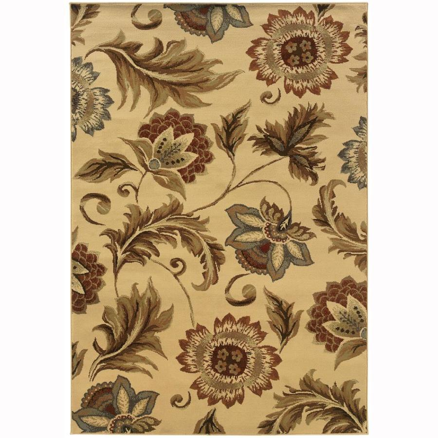 Archer Lane Gadwall Beige Rectangular Indoor Machine-Made Nature Area Rug (Common: 5 x 7; Actual: 6.25-ft W x 7.25-ft L)
