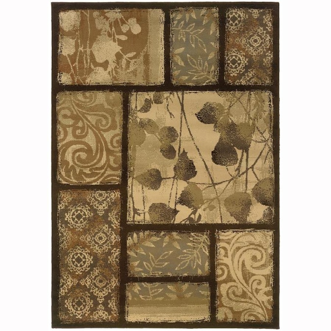 Archer Lane Habersham 8 X 10 Brown Indoor Floral Botanical Area Rug In The Rugs Department At Lowes Com