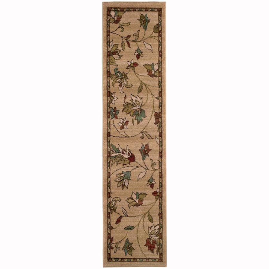 Archer Lane Abbey Gold Rectangular Indoor Machine-Made Nature Runner (Common: 2 x 8; Actual: 1.8-ft W x 7.5-ft L)