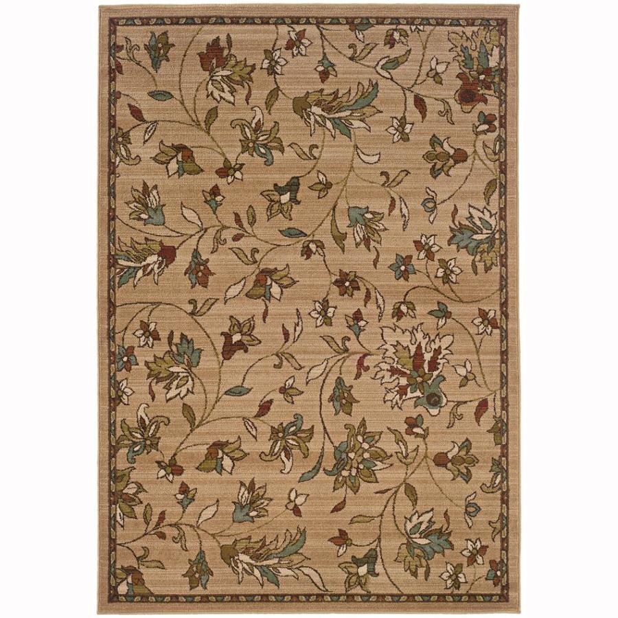 Archer Lane Abbey Gold Rectangular Indoor Machine-Made Nature Area Rug (Common: 7 x 10; Actual: 6.6-ft W x 9.5-ft L)