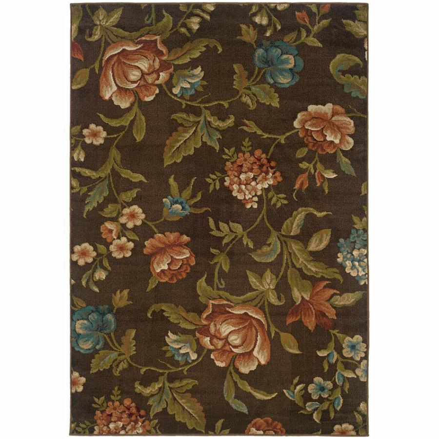 Archer Lane Bradbury Brown Rectangular Indoor Machine-Made Nature Area Rug (Common: 7 x 10; Actual: 6.6-ft W x 9.5-ft L)