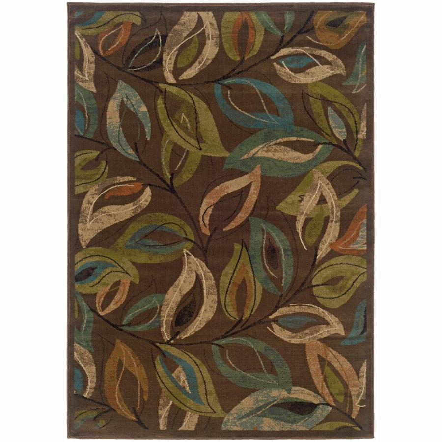 Archer Lane Caddell Brown Indoor Nature Area Rug (Common: 4 x 6; Actual: 3.8-ft W x 5.4-ft L)