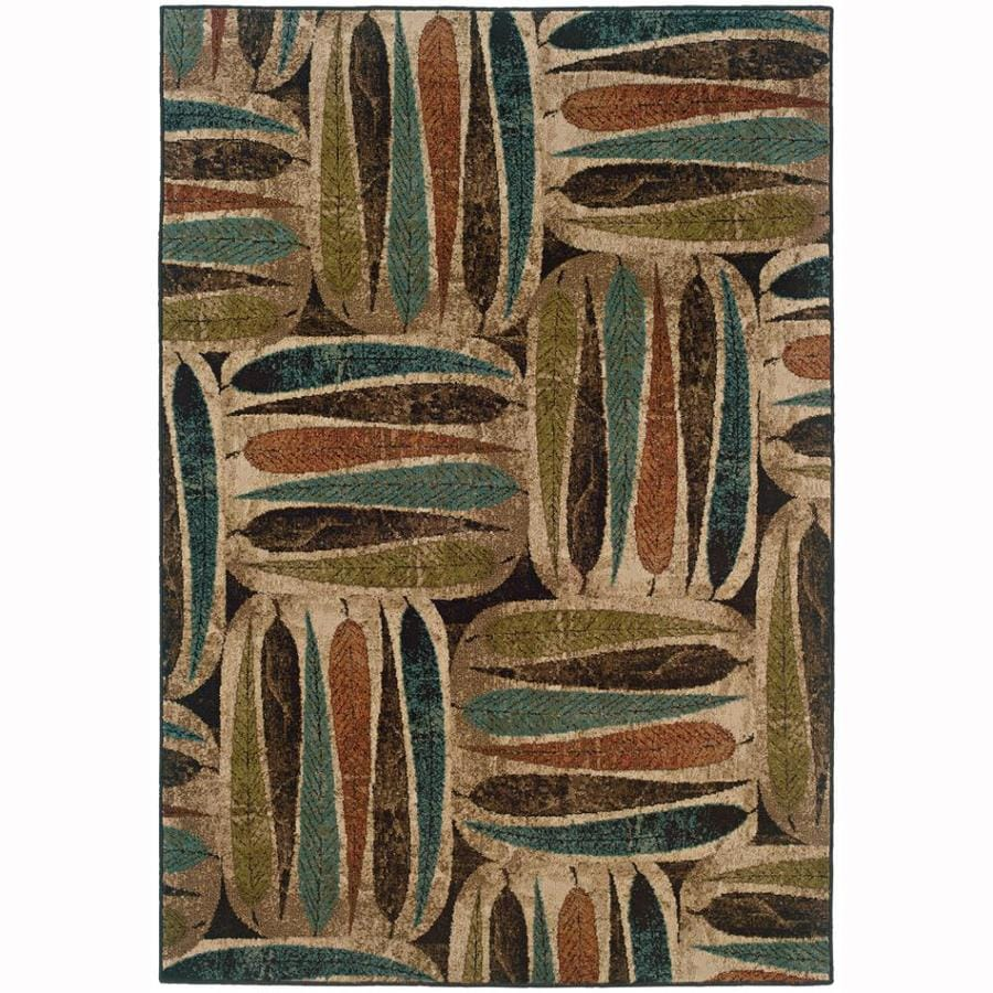 Archer Lane Daden Ivory Rectangular Indoor Machine-Made Nature Area Rug (Common: 7 x 10; Actual: 6.6-ft W x 9.5-ft L)