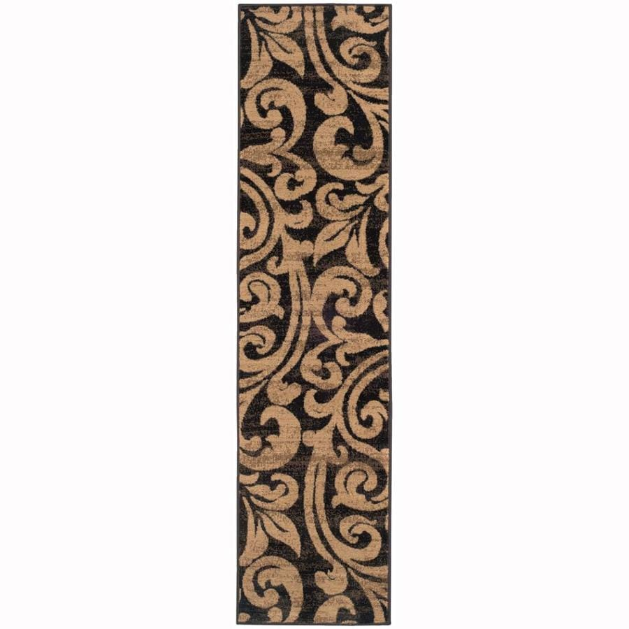 Archer Lane Eaglewood Black Rectangular Indoor Machine-made Nature Runner (Common: 2 x 8; Actual: 1.8-ft W x 7.5-ft L)