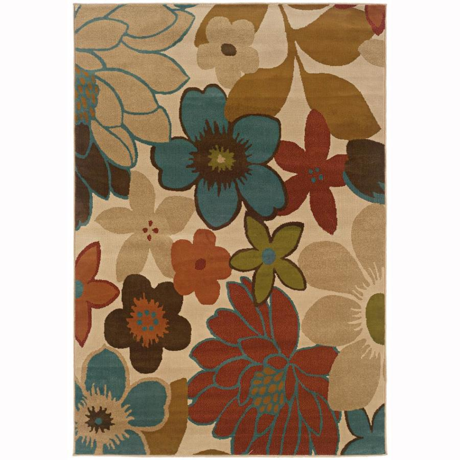 Archer Lane Faculty Ivory Rectangular Indoor Machine-Made Nature Area Rug (Common: 5 x 8; Actual: 5-ft W x 7.5-ft L)