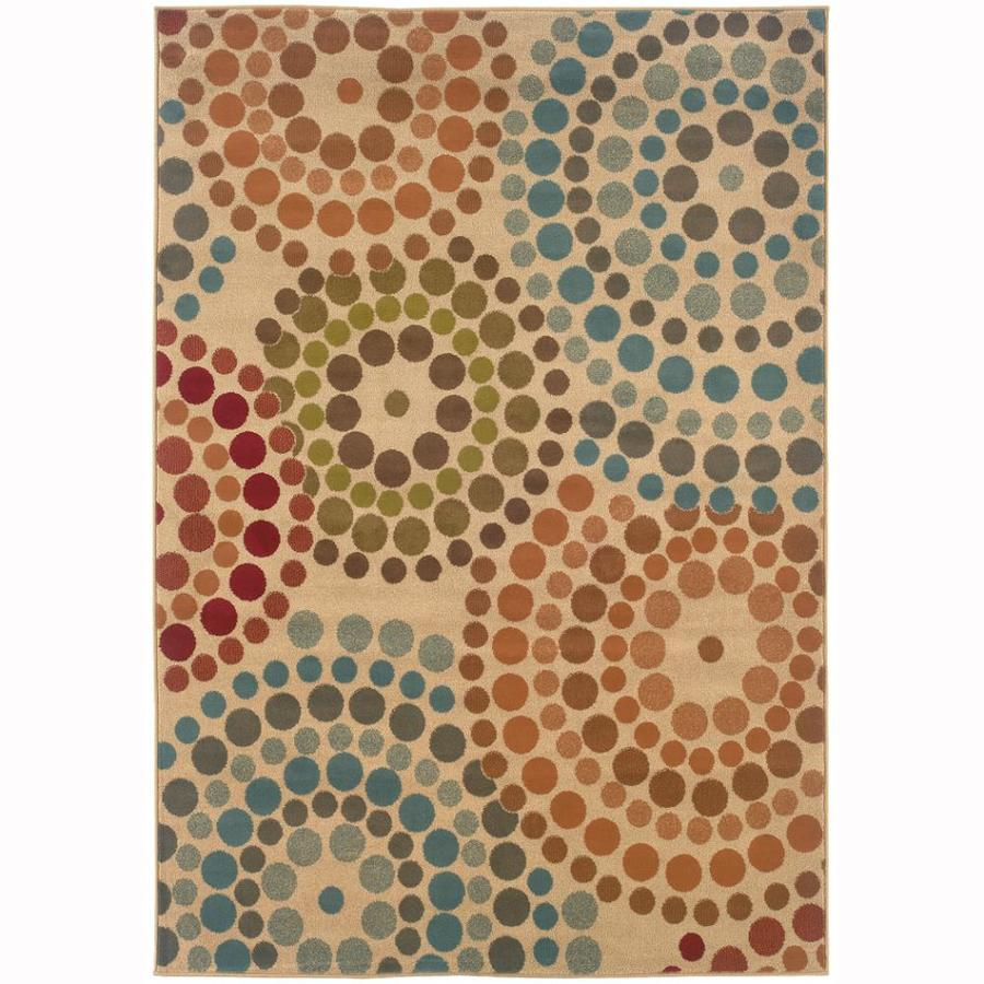 Archer Lane Gaffney Gold Rectangular Indoor Machine-Made Nature Area Rug (Common: 4 x 6; Actual: 3.8-ft W x 5.4-ft L)