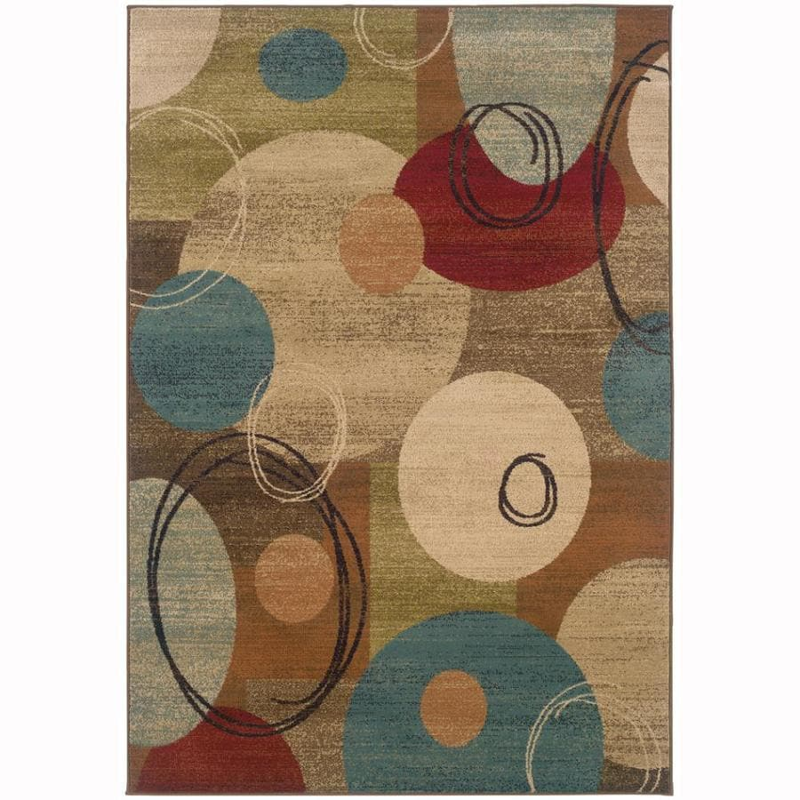 Archer Lane Iberville Gold Rectangular Indoor Machine-Made Nature Area Rug (Common: 5 x 8; Actual: 5-ft W x 7.5-ft L)