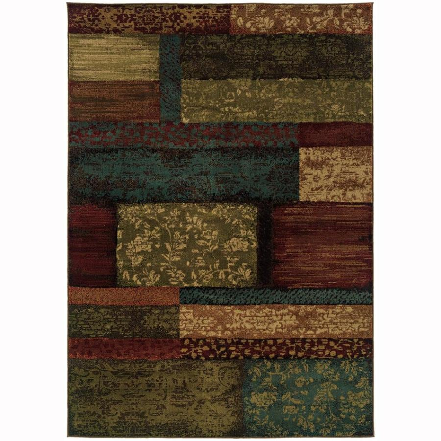 Archer Lane Kailey Brown Rectangular Indoor Machine-Made Nature Area Rug (Common: 5 x 8; Actual: 5-ft W x 7.5-ft L)