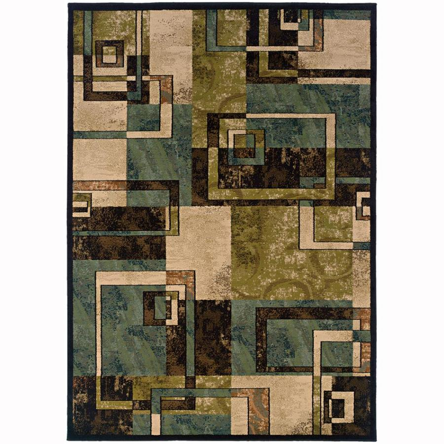 Archer Lane Lacewood Beige Rectangular Indoor Machine-Made Nature Area Rug (Common: 10 x 13; Actual: 10-ft W x 13-ft L)