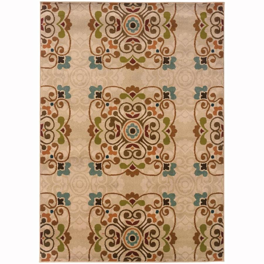 Archer Lane MacAllister Gold Rectangular Indoor Machine-Made Nature Area Rug (Common: 8 x 10; Actual: 7.8-ft W x 10-ft L)