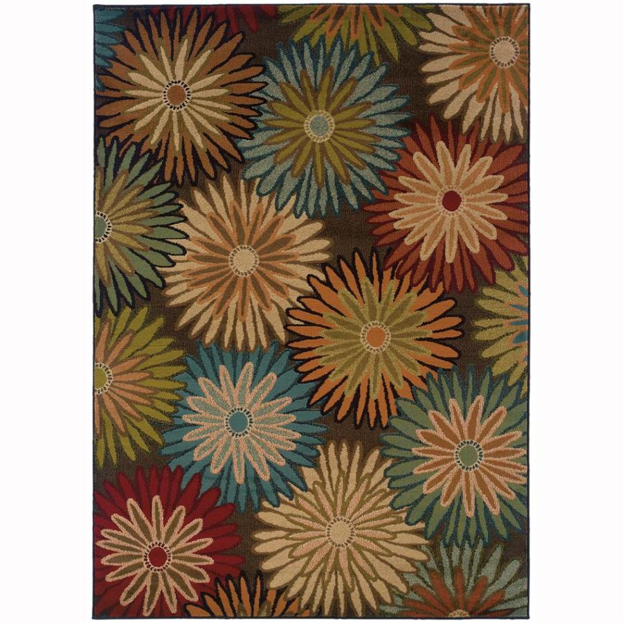 Archer Lane Oakleigh Charcoal Rectangular Indoor Machine-Made Nature Area Rug (Common: 5 x 8; Actual: 5-ft W x 7.5-ft L)