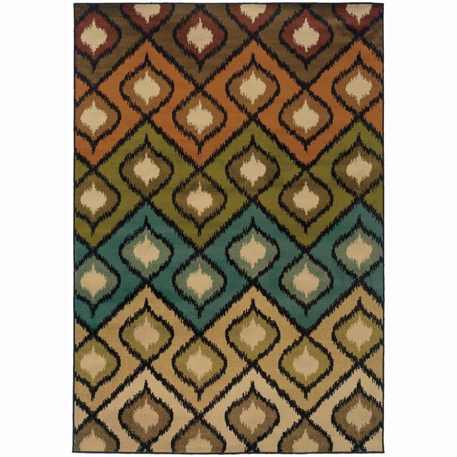 Archer Lane Quad Beige Indoor Nature Area Rug (Common: 10 x 13; Actual: 10-ft W x 13-ft L)