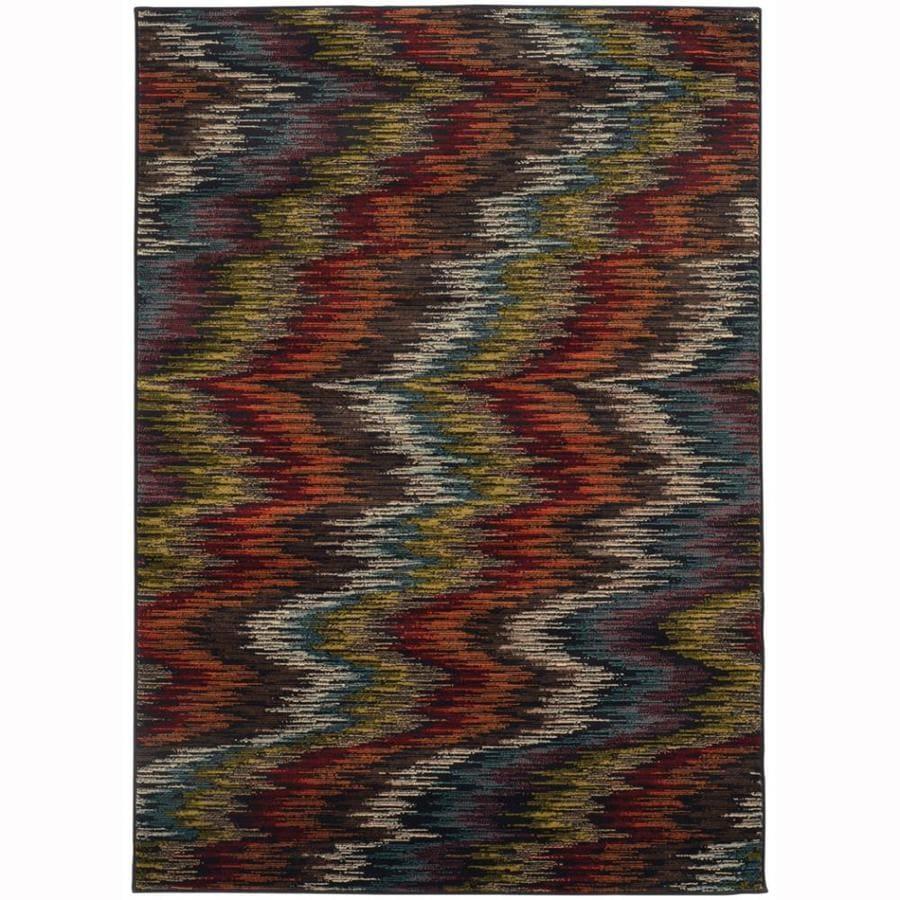 Archer Lane Tablestone Multicolor Rectangular Indoor Machine-Made Nature Area Rug (Common: 7 x 10; Actual: 6.6-ft W x 9.5-ft L)