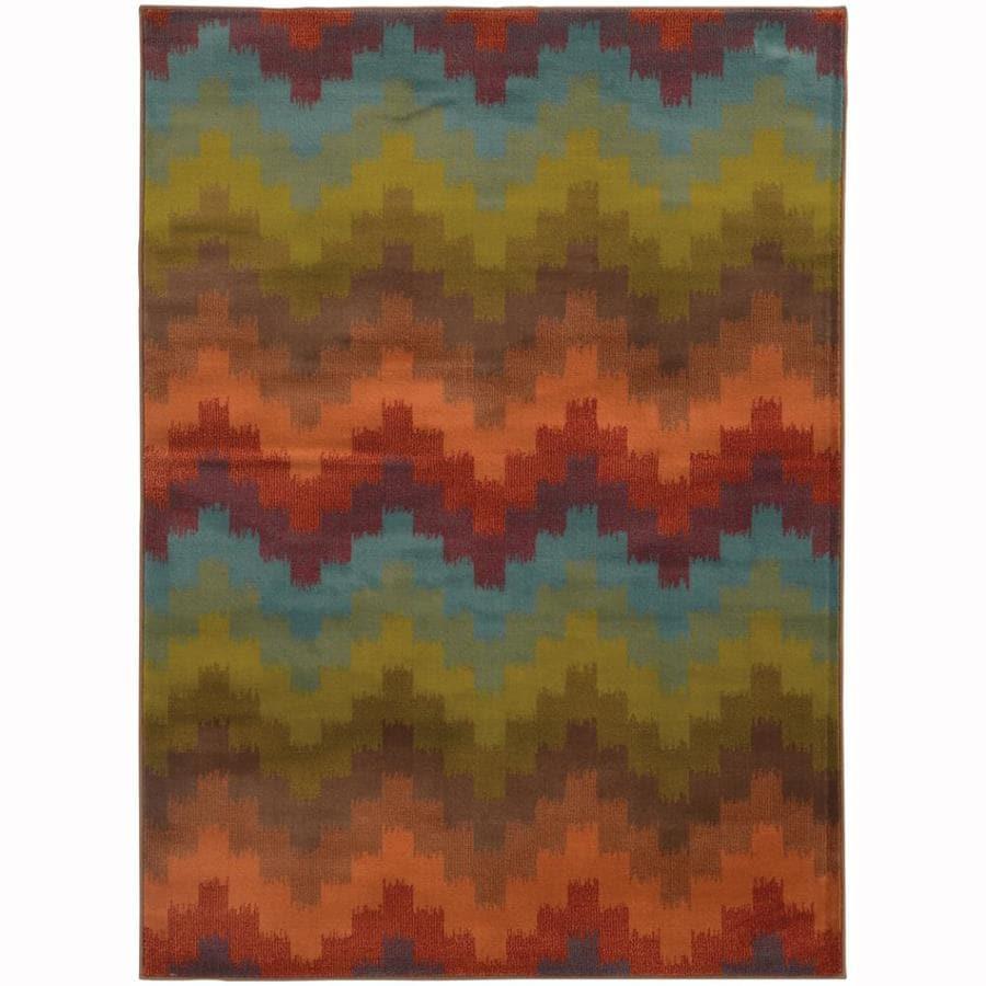 Archer Lane Wadestone Multicolor Rectangular Indoor Nature Area Rug (Common: 4 x 6; Actual: 3.8-ft W x 5.4-ft L)