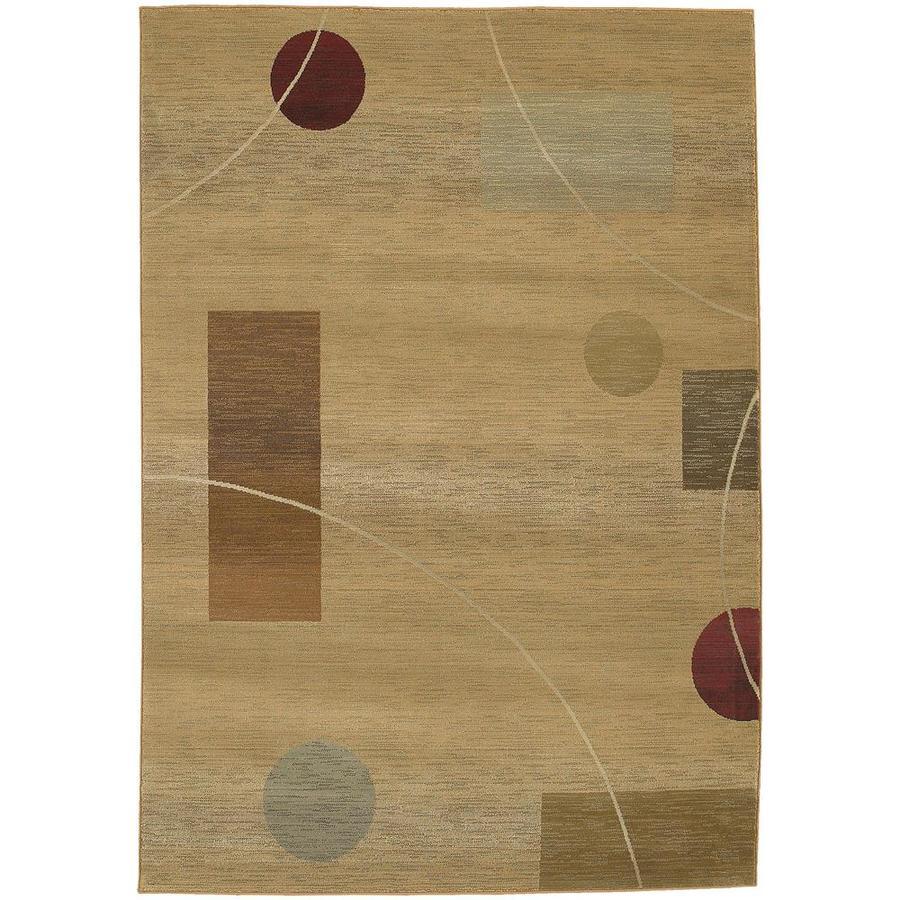 Archer Lane Bagley Beige Indoor Area Rug (Common: 7 x 9; Actual: 6.58-ft W x 9.08-ft L)