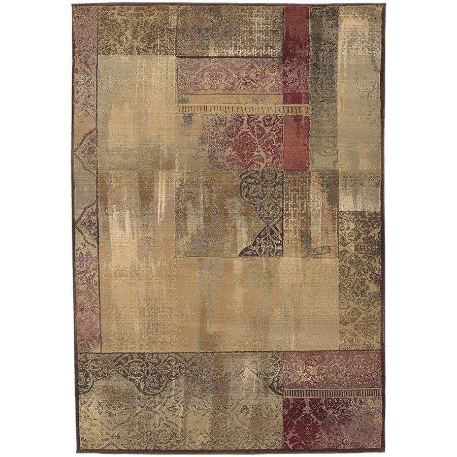 Archer Lane Dahlia Green Indoor Area Rug (Common: 7 x 9; Actual: 6.58-ft W x 9.08-ft L)