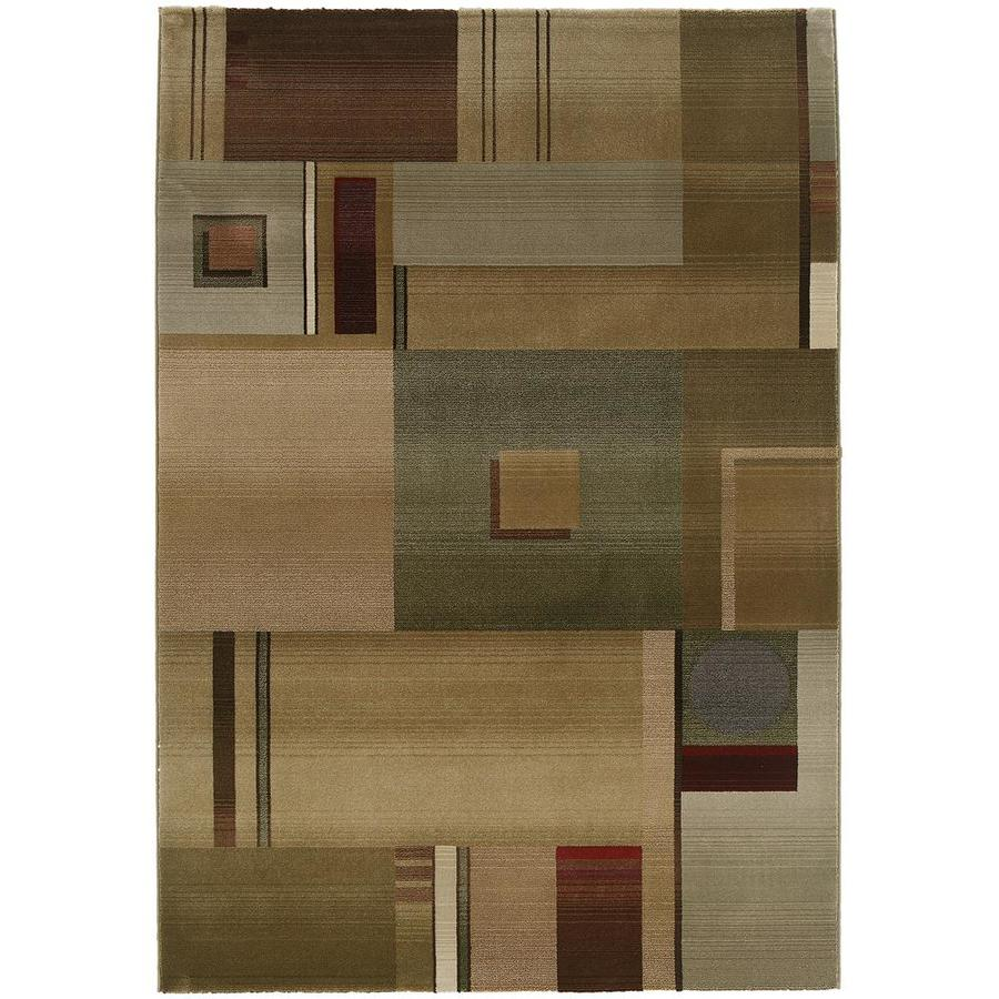 Archer Lane Earlham Green Rectangular Indoor Machine-Made Area Rug (Common: 5 x 8; Actual: 5.25-ft W x 7.5-ft L)